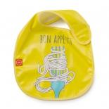 детское питание Нагрудник Happy Baby Waterproof Baby Bib желтый