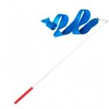 лента гимнастическая Amely AGR-201 6м, с палочкой 56 см, голубая