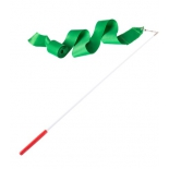 лента гимнастическая Amely AGR-201 6м, с палочкой 56 см, зеленая