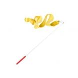 лента гимнастическая Amely AGR-201 4м, с палочкой 46 см, желтая