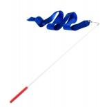 лента гимнастическая Amely AGR-201 6м, с палочкой 56 см, синяя