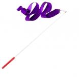 лента гимнастическая Amely AGR-201 4м, с палочкой 46 см, фиолетовая