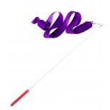 лента гимнастическая Amely AGR-201 6м, с палочкой 56 см, фиолетовый