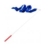 лента гимнастическая Amely AGR-201 4 м, с палочкой 46 см, синий