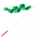 лента гимнастическая Amely AGR-201 4м, с палочкой 46 см, зеленая