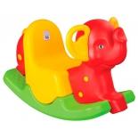 качалка детская Pilsan Happy Elephant (06-165),  красный/зеленый