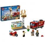 конструктор LEGO City 60214 Пожар в бугер-кафе (для мальчиков)
