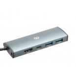 USB-концентратор Digma HUB-2U3.0СAU-UC-G серый