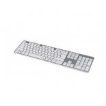 клавиатура Hama Rossano slim бело-серебристая