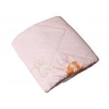 одеяло детское Эго (ОД-02) 110х140см, розовое с мишкой и зайкой