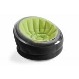 надувной круг-кресло Intex 66581 Empire , черно-зеленое