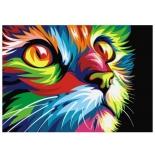 товар для детского творчества Артвентура (02ART40502007) Радужный кот, Роспись по холсту