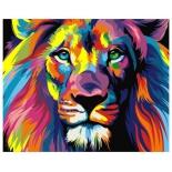 товар для детского творчества Артвентура (02ART40502001) Радужный лев, роспись по холсту