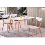 стол обеденный TetChair Max 140х80х75см, белый натуральный (Бук)