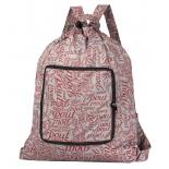 рюкзак городской Nosimoe 013D буквы, серо-бордовый