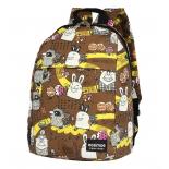 рюкзак городской Nosimoe 008-03D мульт-коричневый