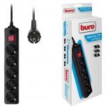 сетевой фильтр Buro (500SH-10-B)черный