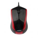 мышка A4 V-Track Padless (N-400-2) черный/красный
