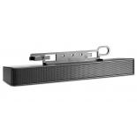 компьютерная акустика HP H-108 (NQ576AA), звуковая панель для ЖК-монитора, стерео, чёрная