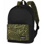 рюкзак городской Nosimoe  8302-05 черный-карман_желт_зиг-заг