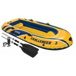 лодка надувная Intex 68370 Challenger 3 Set (до 300 кг) желтый/синий