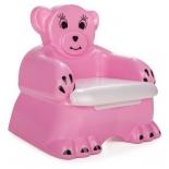 горшок детский медвежонок Pilsan Bobo Child Potty (07-505-T), розовый