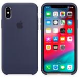 чехол iphone Apple для iPhone XS (MRW92ZM/A) темно-синий