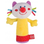 игрушка Happy Baby погремушка Кот с пищалкой 330358