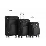 чемодан L`case Barcelona YY-8183  S 22х34,5х59 см черный