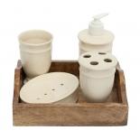набор аксессуаров для ванной комнаты TetChair Secret De Maison Chateau (C-3525)  натуральный