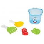 набор игровой для игры на улице Pilsan Cute Bucket (06-117) для пляжа и песочницы