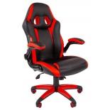 игровое компьютерное кресло Chairman game 15 экопремиум (7022777), черное/красное