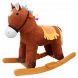 качалка детская Наша Игрушка Лошадка Мультик (611034), коричневая