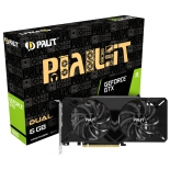 видеокарта GeForce Palit GeForce GTX 1660 Dual 6 GB (GDDR6, G-Sync, VR), NE51660018J9-1161A