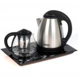 набор чайников Unit UEK-232, черный / нержавеющая сталь