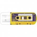 usb-флешка Verbatim Store n Go  Mini Cassette Edition 49399 16Gb, желтая/рисунок