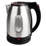 чайник электрический Scarlett SC-EK21S30, серебристый/черный