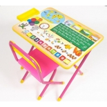комплект детской мебели Дэми 1 Глобус (ССД.02 Г) розовый
