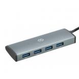 USB-концентратор Digma HUB-4U3.0-UC-G серый