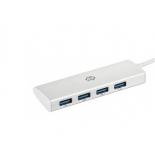 USB-концентратор Digma HUB-4U3.0-UC-S серебристый