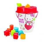 набор игровой для игры на улице для пляжа и песочницы Pilsan Hello Kitty (06-012), красный