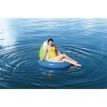 Шезлонг BestWay 43136 BW (150х140см) надувной, для отдыха на воде, купить за 1 345руб.