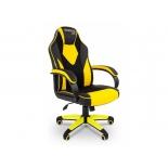игровое компьютерное кресло Chairman game 17 экопремиум (7028515), черное/желтое