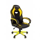 игровое компьютерное кресло Chairman game 16 экопремиум (7028514), черное/желтое