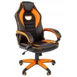 Игровое компьютерное кресло Chairman game 16 экопремиум (7024555), черное/оранжевое, купить за 7 930руб.