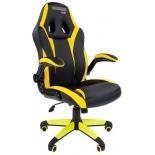 игровое компьютерное кресло Chairman game 15 экопремиум (7028512), черное/желтое