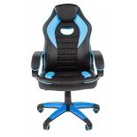 игровое компьютерное кресло Chairman game 16 экопремиум (7024556), черное/голубое