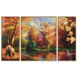 картина по номерам Триптих Schipper Осень 50х80 см (9260650)