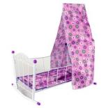 мебель для кукол Кроватка-люлька с балдахином Наша Игрушка Хризантема (43699 1)