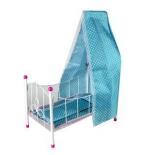 мебель для кукол Кроватка Наша игрушка Жемчуг (PH944 2) с балдахином
